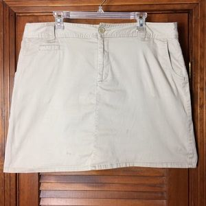 White Stag Skort Plus Size 18 Khaki
